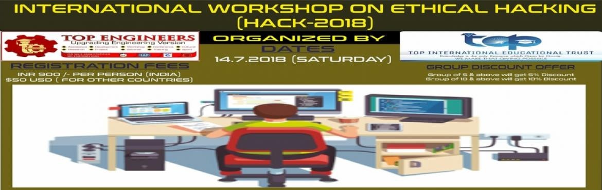 Book Online Tickets for INTERNATIONAL WORKSHOP ON ETHICAL HACKIN, Chennai.             Workshop Terms and Conditions: * This Workshop is strictly for STUDENTS, since the course content has been designed according to the students.Professionals, Experts and Faculty Members of colleges/Schools/Parents are not allowed to