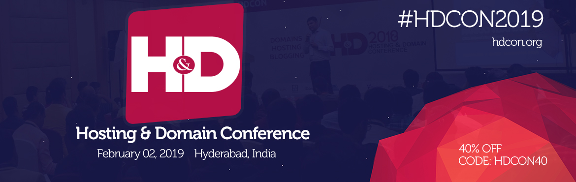 Book Online Tickets for Hosting and Domain Conference 2019, Hyderabad. Hosting and Domain Conference is the World\'s Top initiative to discuss on latest happenings in the field of web technologies. Its an 1 day event. Over 500 Delegates along with 15Speakers participate in this conference. Hosting, Domain, B