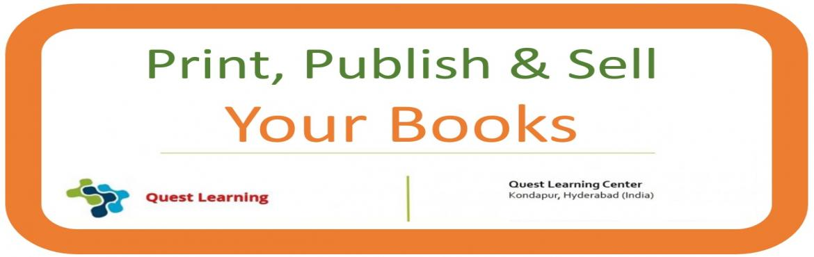 Book Online Tickets for Write a book , Publish it and Sell it, Hyderabad. Workshop for new writers! Are you an author and looking to publish your book? This workshop is for you. This Workshop is organized by Eka Publishers. Eka Publishers is constantly looking out for talented authors and help them to publish and sell thei