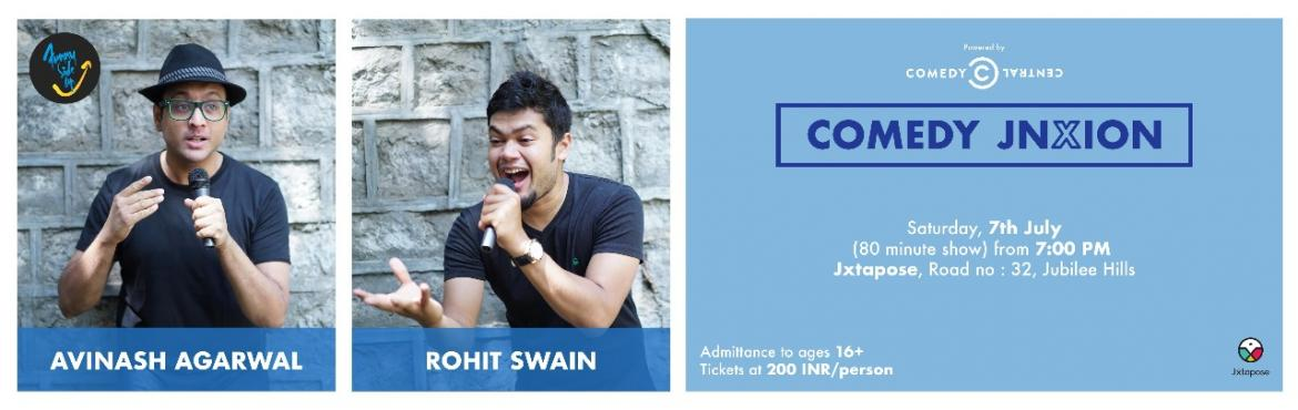 Book Online Tickets for COMEDY JNXION, Hyderabad. Join us at Jxtapose, a locus for creative artists of Hyderabad, on Saturday, July 7th for Comedy Jnxion: a night of jokes and laughs with two of the finest stand-up comedians in the twin cities, the amazing Avinash Agarwal and the hilarious Rohit Swa