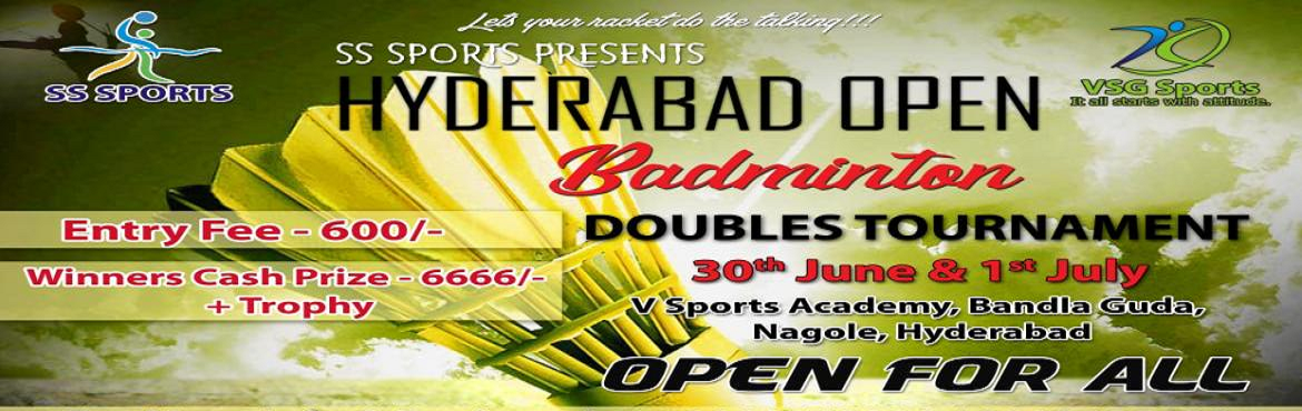 Book Online Tickets for Invitation Tournament, Hyderabad.  Please Check the image for more details. Event 1 : Age 35 below    Event 2 : Age 35 Above.