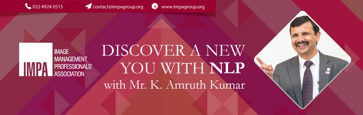 Book Online Tickets for Discover a new YOU with NLP , Bengaluru. Amruth Kumar is an NLP Master Trainer, Therapist & Coach. Amruth is the Founder & Chief Consultant of 'Greatscope Consulting', a training & consulting organization that he started in 1998. He is also a Certified Behaviora