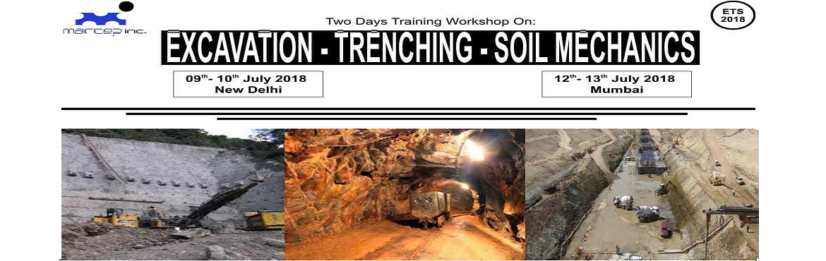Book Online Tickets for EXCAVATION - TRENCHING - SOIL MECHANICS , Mumbai.   A. Excavations & Trenching regulations in 29 CFR 1926.650-652.. B. Different types of soils classification C. Potential hazards posed by excavations Risk & Mitigation Plan D. Occupational Safety Health Administration OSHA Standard