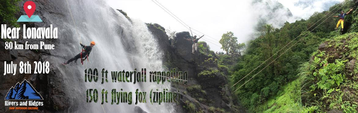 Book Online Tickets for Waterfall Rappelling and Zip-line at Raj, Mumbai. Dear Adventurists, If the rains haven\'t given you much thrills yet, this adrenalin pumping adventure definitely will. Rappel down a rock facade while facing the intense rush of the waterfall on you and slide over the valley supported on a 150 feet z