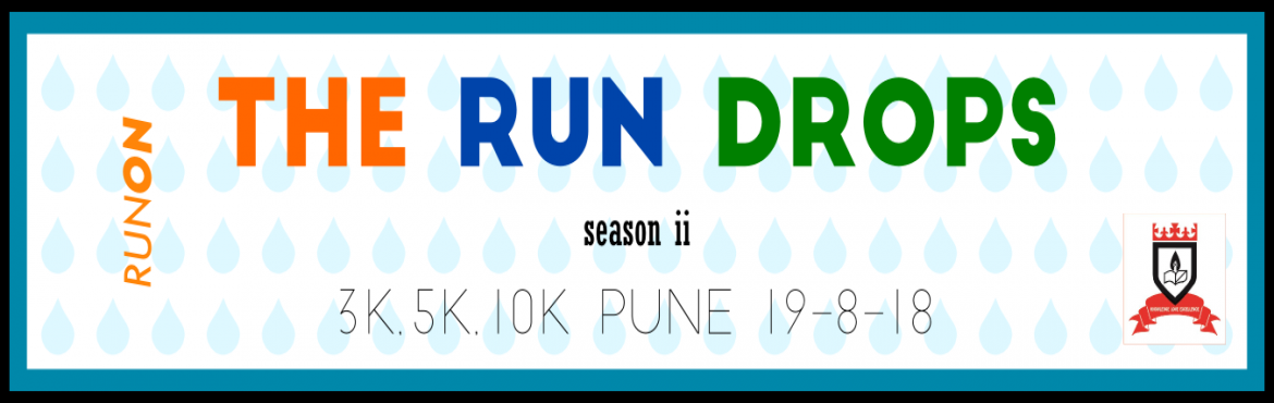Book Online Tickets for THE RUN DROPS 2018, Pune. Monsoon is a special phenomenon that pampers only the Indian subcontinent and not for nothing. Especially for our part of the world where it unleashes the riot of green. To Celebrate this beautiful gift of nature,RUNONhas launched the&nbs