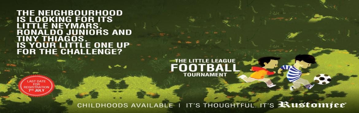 Book Online Tickets for Rustomjee Urbania Hosts Football League , Thane. Sport is such an intrinsic part of our lives, ever since our school days we are encouraged to play sports. One of the most popular sports in the world is football and right now the world cup fever has gripped the globe. Celebrating the love for footb
