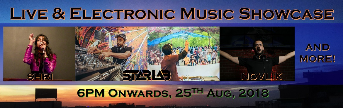 Book Online Tickets for Live and Electronic Music Showcase, Hyderabad. Hyderabad, get ready for a massive one in the making! You are welcome to experience pristinelive& DJ performances of electro & Goa trance music. Online and offline rates for passes are exactly the same if booked on the same date.