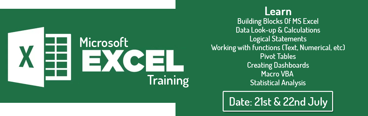 "Book Online Tickets for MS Excel Workshop, Hyderabad. ""What is the need for Excel Training?"" Most people think ""What is the need for training in Excel. What is there to learn in a formal training course for Excel. Excel can be self‐learnt. At max download some learning material from"