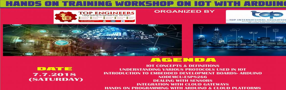 Book Online Tickets for HANDS ON TRAINING WORKSHOP ON IOT WITH A, Chennai.   Workshop Terms and Conditions:   * This Workshop is strictly for STUDENTS, since the course content has been designed according to the students. Professionals, Experts and Faculty Members of colleges/Schools/Parents are not allowed to joi