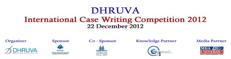 Book Online Tickets for Dhruva International Case Writing Compet, Hyderabad. This case writing competition is intended to energize the development of cases related to Indian management issues and opportunities. The cases should address the unique characteristics of Indian businesses, to promote substantive discussion about In