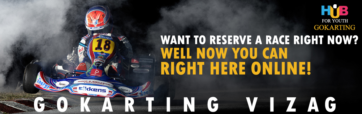 Book Online Tickets for GoKarting at Hub For Youth, Visakhapat.   Hub for Youth (Go Karting) is an adventurous hub situated on the beach road towards the famous Thotlakonda. The track is considered to be India\'s longest track. Come and test your skills on this route with your friends and family.