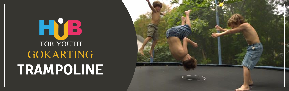 Book Online Tickets for Trampoline at Hub For Youth, Visakhapat.   A trampoline is a device consisting of a piece of taut, strong fabric stretched between a steel frame using many coiled springs. People bounce on trampolines for recreational and competitive purposes.