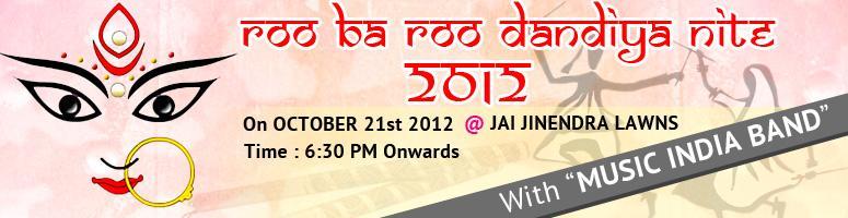 RooBaRoo Dandiya Nite 2012