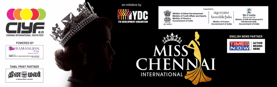 Book Online Tickets for MISS CHENNAI INTERNATIONAL, Chennai.  MISS CHENNAI INTERNATIONAL  is a Fashion Contest one of a kind show is aimed at bringing the youth of India together to channelize their talents at a bigger platform. It endeavors to expose the fashion conscious with the latest fashion tre