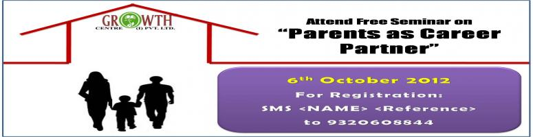 "Free Seminar on ""Parents as Career Partners"""