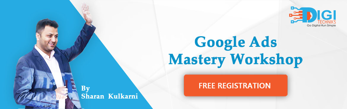 Book Online Tickets for Google Adwords Mastery Workshop by Shara, Bengaluru. Learn How Our Clients have Transformed their Sales Using Google Adwords and Get Your Adwords Certification Agenda of the Workshop:  Introduction to Google Adwords How Ad Auctioning Works on Adwords  The significance of Adwords for any business Compet
