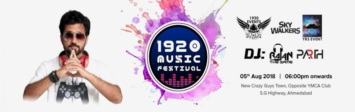 Book Online Tickets for 1920 MUSIC FESTIVAL (FRIENDSHIP DAY Part, Ahmedabad.   1920 MUSIC FESTIVAL (FRIENDSHIP DAY Party) It's an event for the Party Enthusiasts' on FRIENDSHIP DAY. Party day with one of the best DJ's of Gujarat – Dj Rajan & Dj Parth. The event set-up has a friendship day old