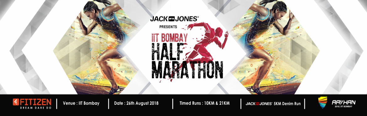 Book Online Tickets for IIT Bombay Half Marathon (IITBHM) 2018, Mumbai. After a spectacular and much appreciated IITBHM 2017, we are back with IITBHM 2018. Fitizen India in association with IIT Bombay is organizing IIT Bombay Half Marathon (IITBHM) on August 26, 2018. IITBHM gives you once in a year opportunity to run in