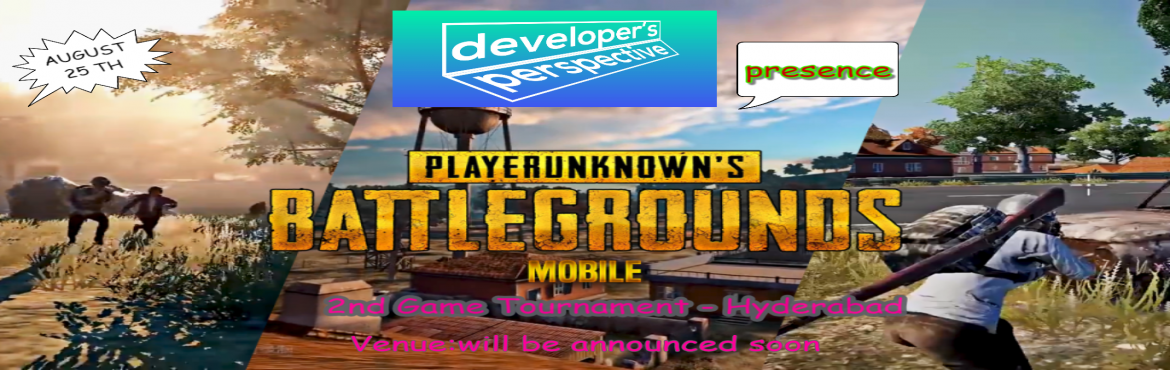 Book Online Tickets for Pubg Mobile Game Tournament -Hosted By D, Hyderabad. Game Name:Pubg MobilePlatform:MobileDATE: 15.7.18Time: 5pm-7pmVenue:Will be announced soonprize depends upon the Most kills or ranking2-Type of Events will be conducted1.Online event- .You can play the game from your home or office (note :our moderat