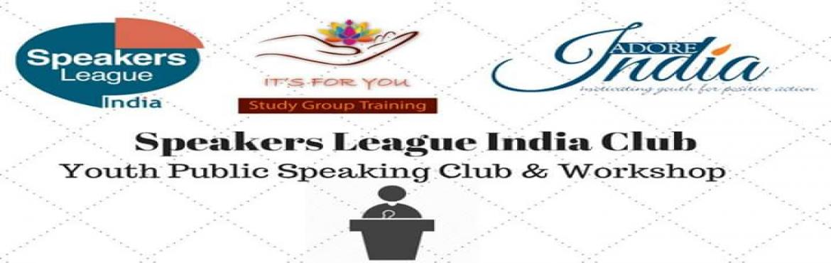 Book Online Tickets for Speakers League India, Kolkata. Speakers League India is a training programme open to students from Schools and Colleges. It is a platform to develop there Skills of Public Speaking. There will be Impromptu, Speech, Humorous and Poet Laureate.