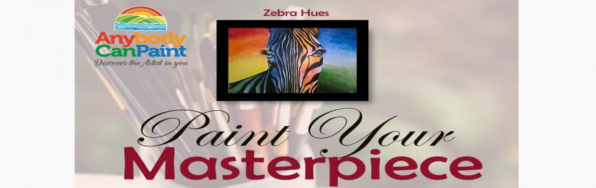Book Online Tickets for Paint a Masterpiece - A fully guided pai, Hyderabad. In this uniqueexperience, you will be guided step-by-step through completion of the displayed 'Zebra Hues' masterpiece. In this event, you will unravel the mystery behind creating stunningacrylic paintings and learn techniques