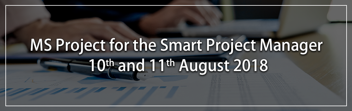 "Book Online Tickets for MS Project Training 10th and 11th August, Bengaluru. About The Event Why ""MS Project for the Smart Project Manager"" workshop from SABCONS?   To help you manage projects effectively using MS Project. Entire workshop is based on case study approach. PDU claims for Project Management Prof"