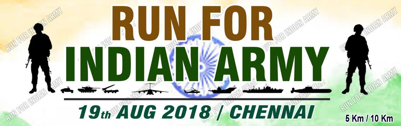 Book Online Tickets for Run For Indian Army 2018 - Chennai, Chennai. Run for \