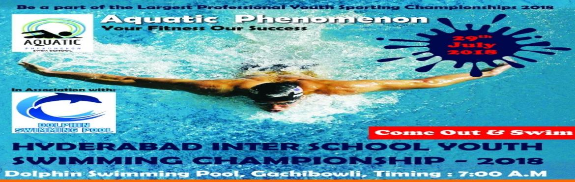 Book Online Tickets for HYDERABAD INTER-SCHOOL YOUTH SWIMMING CH, Hyderabad.  About The Event    The aim of the event is to encourage the youth of Hyderabad to develop an awareness about the importance of being healthy and fit through the medium of swimming. The people behind this swimming competition are pa