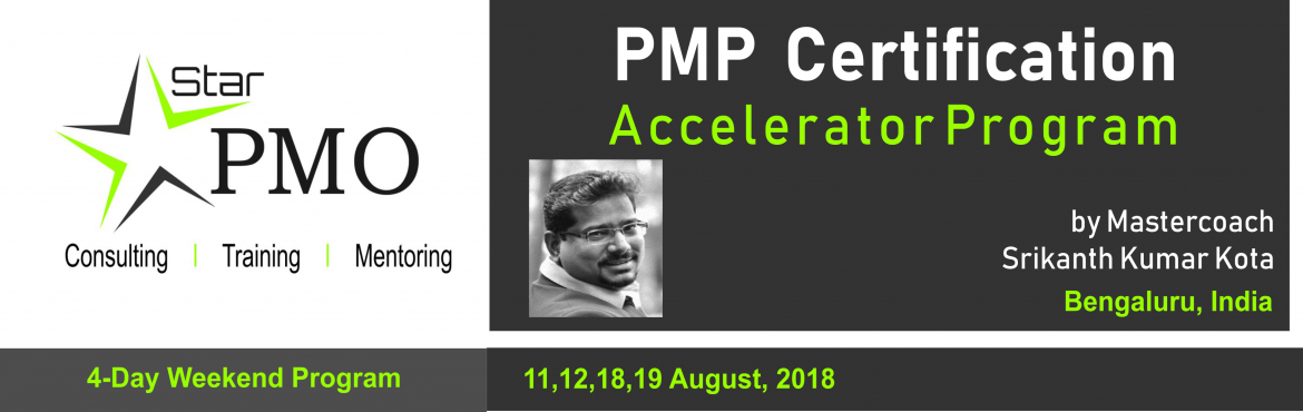 Book Online Tickets for PMP Certification Accelerator Program, Pune. StarPMO has announce dates for its flagship PMP Certification Accelerator Program at Hyderabad.  Workshop Dates: 28th, 29th July 2018 & 4th , 5th August 2018 Location: Office No 610,Topaz Plaza, Amritha Hills, Somajiguda, Hyderabad.  \'