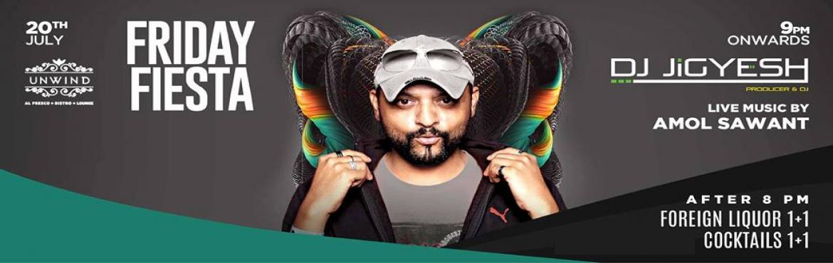 Book Online Tickets for Friday Bollywood Fiesta at UNWIND,KP  fe, Pune. Friday Bollywood Fiesta at UNWIND feat DJ Jigyesh Get ready to show off your dance moves because it\'sDesiNightatUnwindthis Friday 20th July! WithDJ Jigyeshbringing us the best party tracks,