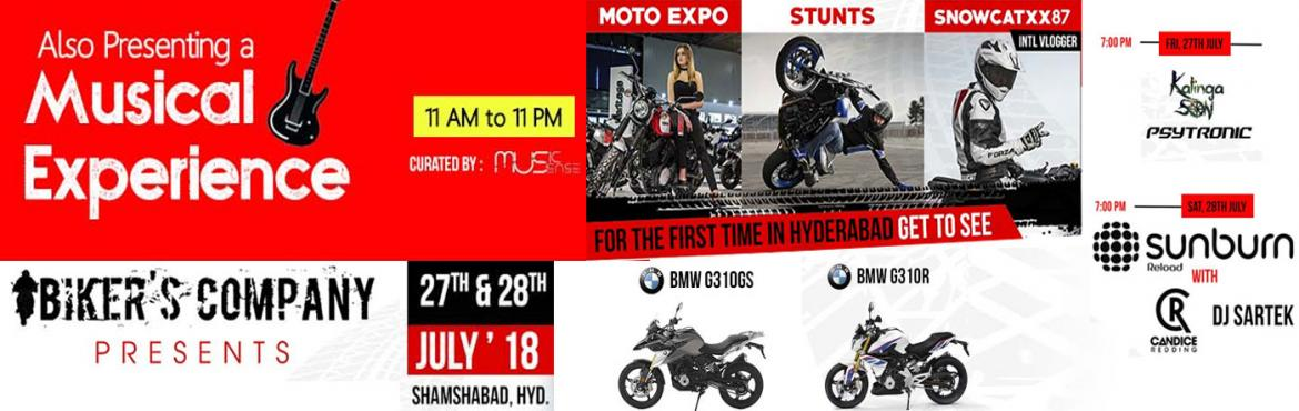 Book Online Tickets for Bikers Company  , Hyderabad.  Hello Bike Riders, GEAR UP!! Be ready with your bikes for the Largest motorcyclist meetup for Men and Women Riders in Country, coming to Shamshabad in Hyderabad on the 27th & 28th July 2018.      This upcoming