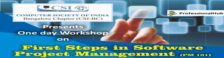 Book Online Tickets for First Steps in Software Project Manageme, Bengaluru. About the workshop: The role of a project manager in planning and managing a software project is an essential part of software engineering. Effective control of budget, resource management, meeting timelines & deliverables and innovative improve