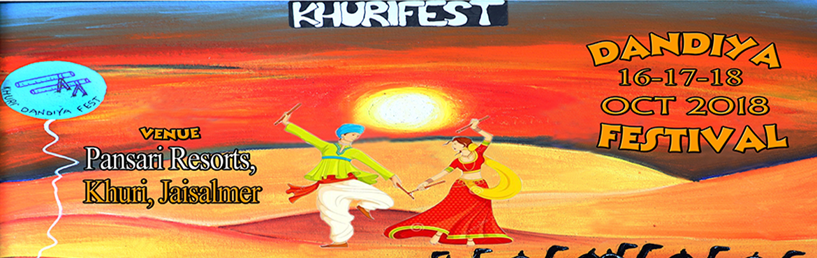 Book Online Tickets for Khuri Dandiya Fest 2018, Jaisalmer. Khuri Dandia Fest is a celeberation of the world famous Dandiya Dance of Gujarat performed during the \'Sharad Navratra\'. The fest involves dancing on the tunes of Dandia under the open sky at Pansari Resorts, located close to Khuri Sand Dunes, Jais