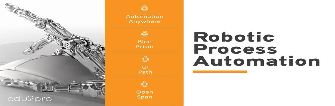 Book Online Tickets for RPA Blue Prism Training, Chennai. DESCRIPTION      Edu2Pro IT Training is starting a new weekend RPA batch from this Saturday, th JULY, 9:00 am @ TIDEL PARK. Blue Prism will be covered in detail with sample projects by Industry Experts.  Duration: 30 Hours Placement Assistance M