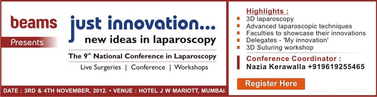 Beams 9th National Conference \'Just Innovation\' - New Ideas in Laparoscopy