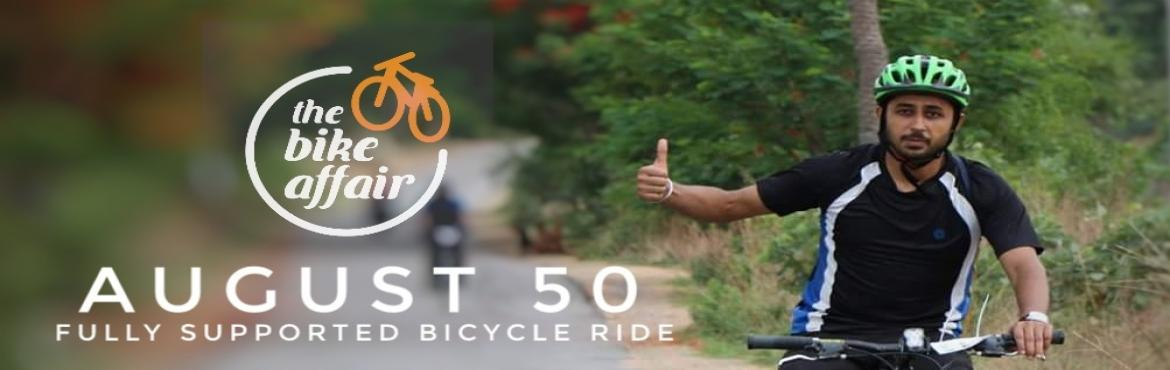 Book Online Tickets for August 50 - The Bike Affair Monthly Ride, Hyderabad. In addition to our monthly century challenge, we are going to have a 50 km supported ride as well this time. So if you think that a century ride is too long, this is going to be your stepping stone. :-) Whether you want to ride it leisurely or want t