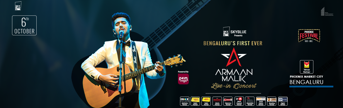 Book Online Tickets for Armaan Malik  Live In Concert 2018, Bengaluru. Bengaluru are you ready for Armaan Malik\'s first ever  LIVE in Concert 2018 in the city?    Singer- Actor Armaan Malik who rose to fame with hit songs including Wajah tum ho, Hua hai aaj pehli baar, and Bol do na zara among others, is