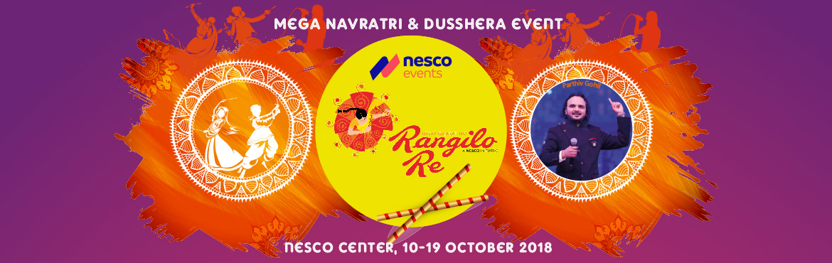 Book Online Tickets for Rangilo Re 2018, Mumbai.  Mumbai erupts in a range of colors while swirling to catchy dandiya beats. Across Mumbai there is piety and revelry in equal measure.  Rangilo Re re-imagines the traditional Navratri experience on a grander and more luxurious scale. The