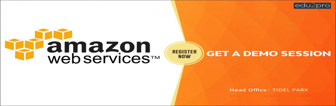 Book Online Tickets for Amazon Web Services Training, Chennai. Edu2Pro IT Training is starting a new batch for Amazon Web Services from uupcoming Saturday, 4th August, 02:00 PM (IST) @ TIDEL PARK. Amazon Web Services will be covered in detail with sample projects by Industry Experts.  Duration: 24 - 30 Hours Pla