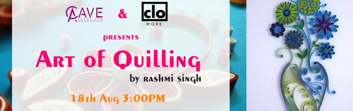 Book Online Tickets for Art of Quilling, Hyderabad. Quilling is a form of art that uses strips of paper which aremanipulated to create shapes which can be mounted on anything and make it beautiful. In this workshop, you will learn how to make your own card using the art of quilling and take it a