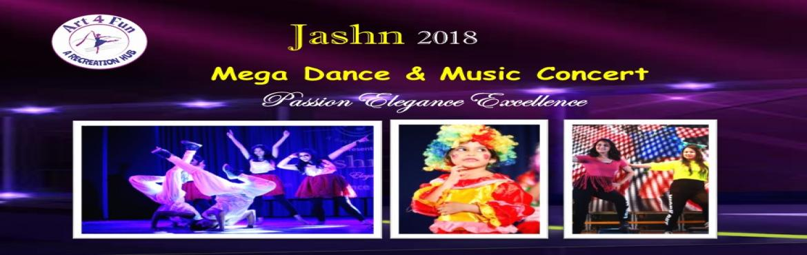 Book Online Tickets for Jashn Mega Dance and Music Concert , Pune.  Art4Fun A Recreation hub presents Mega Dance & Music Concert- Jashn. Art4Fun students age 4 to 40 will perom in Dance, Music & Fitness. Its complete family entertainment.  If you are Dance or Music lover, do not miss to witness the