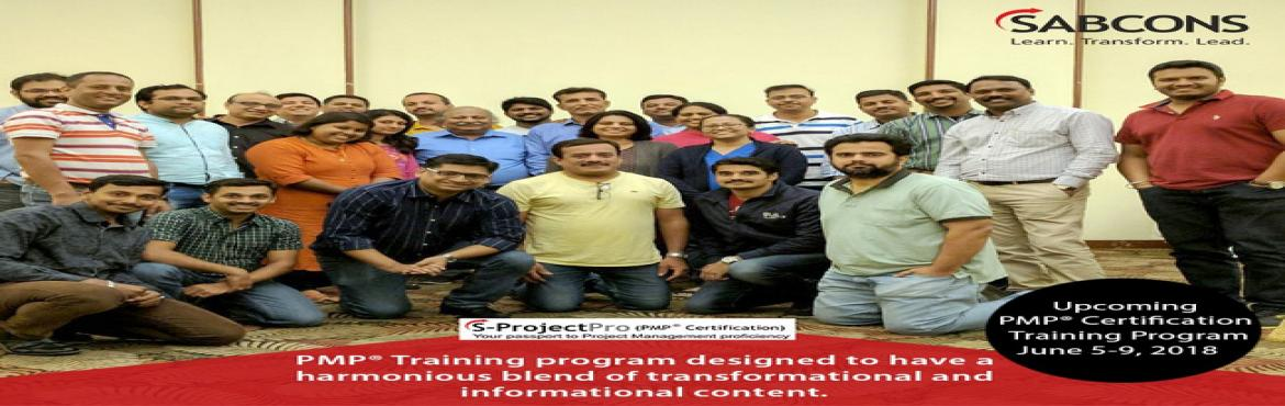 """Book Online Tickets for PMP Certification Program for 5 Saturday, Lavelle Ro. About The Event  Why """"Professional Project Management"""" program oriented towards PMP® Certification from SABCONS.  Are you concerned with schedule slippage, challenges in handling people and surprises to customers?  W"""