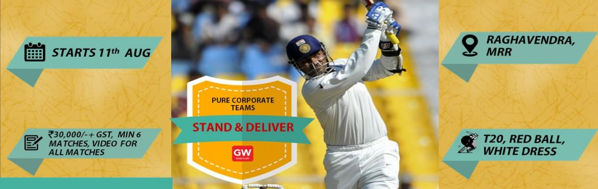 Book Online Tickets for STAND AND DELIVER, Hyderabad. Event Overview Pure Corporate Teams Special Attraction: Video for all matches Participation Fees: Rs 32,000/- plus GST Tournament Format: T20 Format, Red Ball Minimum 6 matches. Three Cup Format, two groups of 6 teams each. Round robin stage every te