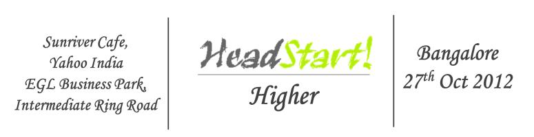 Headstart Higher Bangalore (Candidate) - Oct 27, 2012