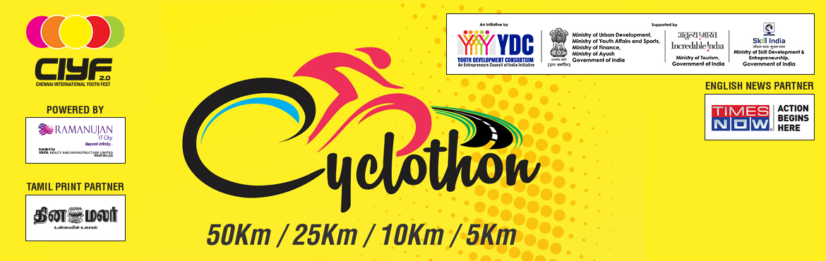 Book Online Tickets for Cyclothon, Chennai. Truly, the bicycle is the most influential piece of product design ever.                                                   &n