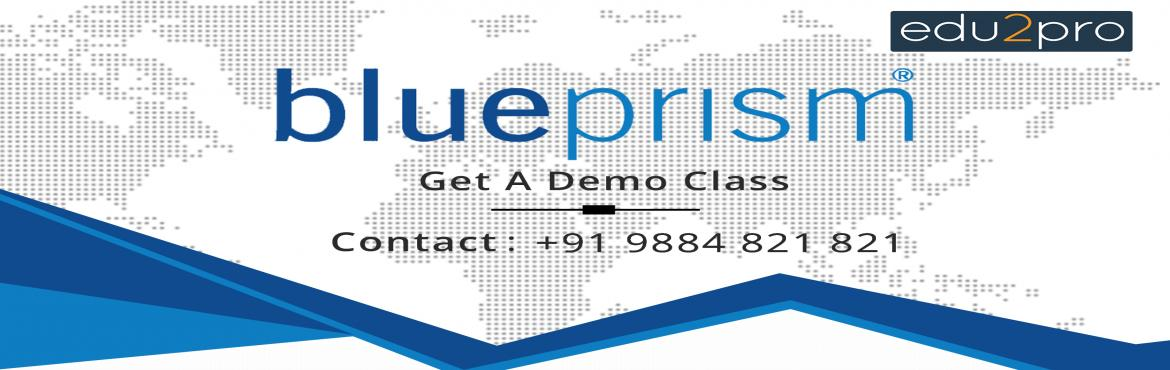 Book Online Tickets for Robotic Process Automation - Blue Prism, Chennai.  Edu2Pro IT Training is starting a new Online batch for Robotic Process Automation - Blue Prism. Blue Prism will be covered in detail with sample projects by Industry Experts.   Duration: 24 – 30 Hours Placement Assistance Mode: Onl