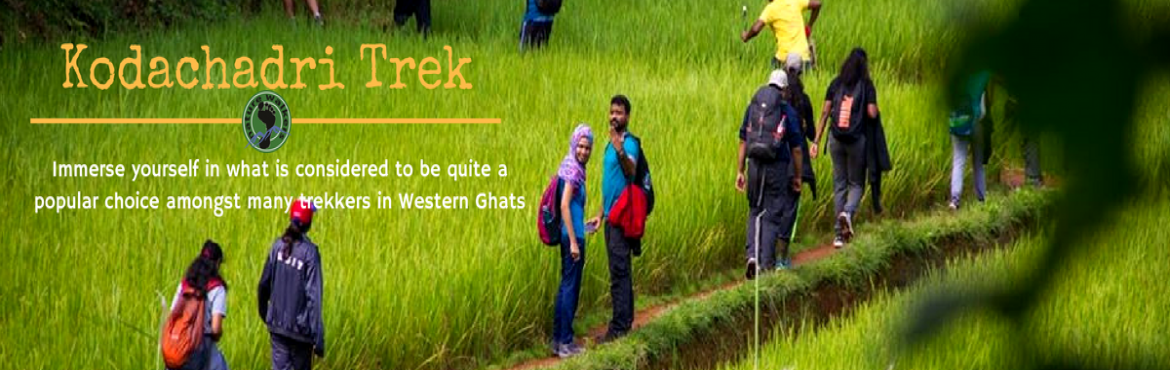 Book Online Tickets for Kodachadri Trek (5-7th Oct), Bengaluru. Kodachadri is one of the beautiful mountain peaks of Karnataka. It is located in the west of Shimoga district, with an altitude of about 1,343 (4,406 ft) meters above the sea level. It is also recognized as a natural heritage site by Karnataka govern