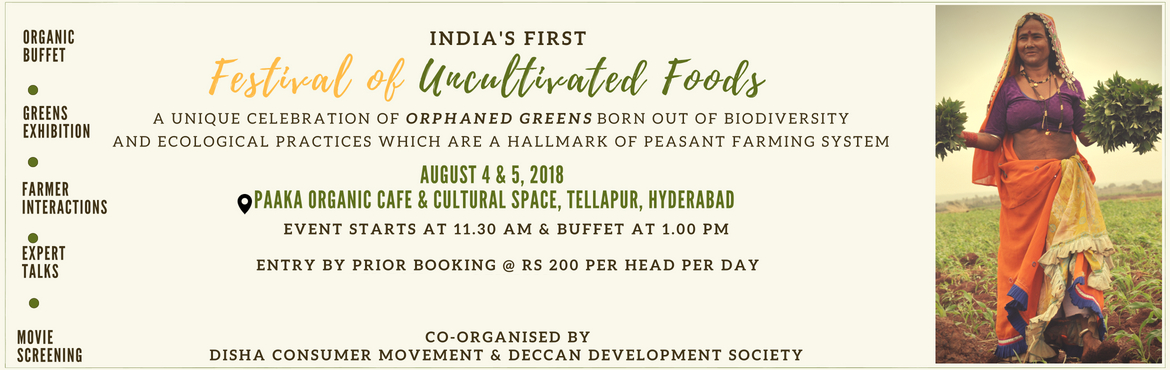Book Online Tickets for Festival of Uncultivated Foods, Hyderabad. Nature\'s Benevolent ! They are never sown but volunteer to grow on their own. They grow best on lands designated as degraded by human beings. They are never sold in the market , but they are multiple times more nutritious than the marketed greens. T