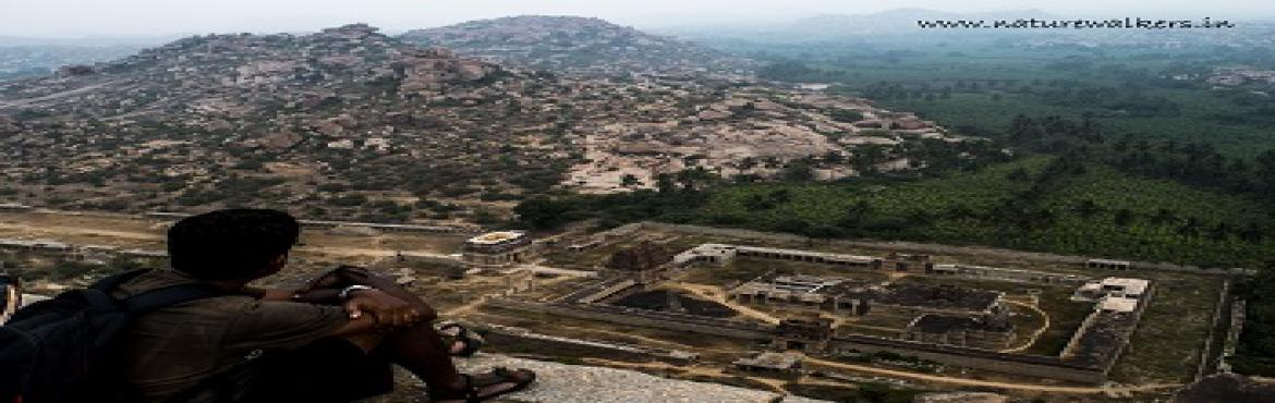 Book Online Tickets for Hampi Trek and Bouldering (20-22nd Sep), Bengaluru. A story crafted in stones about 600 years ago,Hampiis a place which mesmerizes every time you visit it. A beautiful sheer spread and magnitude of structures amongst the hillocks full of rocks and trees.Hampi is about 350 Km toward the nor