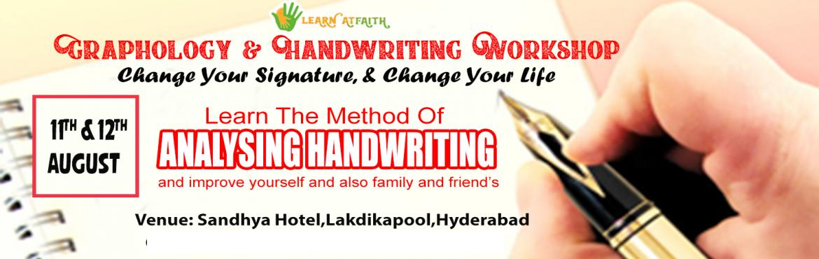 Book Online Tickets for Graphology And Handwriting Workshop in H, Hyderabad. Graphology WorkShop By MR.Suresh ( Handwriting Expert )Mr. Suresh has trained 50,000 and more students he has certified trainer with 5 years of experience in Graphology.Mr. Suresh Revealing Secrets of Handwriting & Signature Analysis.  What